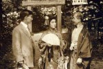 Takagi with unidentified actors during a 1912 Thanhouser production