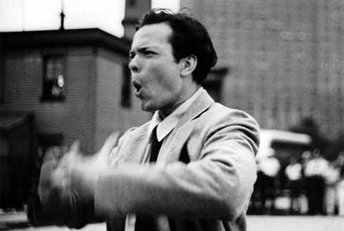 Welles directing Too Much Johnson. Photo courtesy of the Academy of Motion Picture Arts and Sciences.