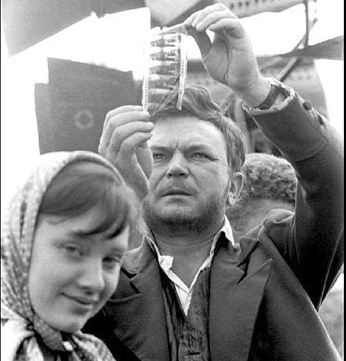 Sergei Bondarchuk and actress Lyudmila Savelyeva