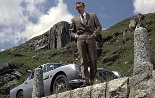 Sean Connery as James Bond and 'friends' in Goldfinger