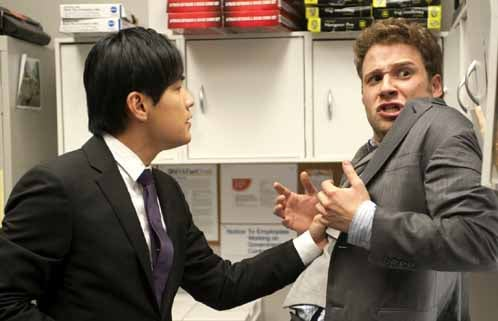 Jay Chou and Seth Rogen