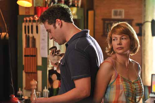 Seth Rogen and Michelle Williams in Take This Waltz