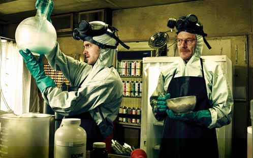 Jesse (Aaron Paul) and Walt (Bryan Cranston) in Breaking Bad