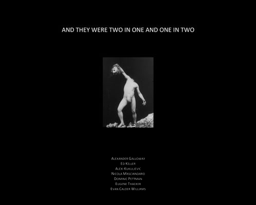 Nicola Masciandaro's And They Were Two In One And One In Two (cover)