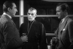 Lugosi, Karloff, and David Manners in The Black Cat