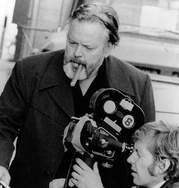 Welles and cinematographer Gary Graver during the shooting of The Other Side of the Wind. Courtesy of Photofest