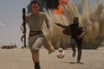 Rey and Finn on Jakku
