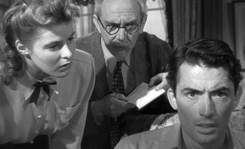 Ingrid Bergman, Michael Chekhov, and Gregory Peck in Spellbound