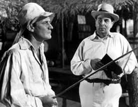 Howard and Robert Morley in Outcast of the Islands