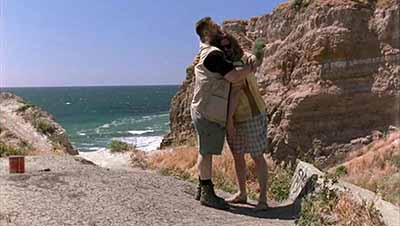 Walter and the Dude embrace